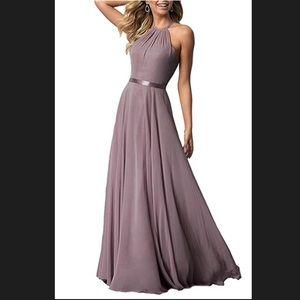 NEW UNWORN Dusty purple formal halter dress